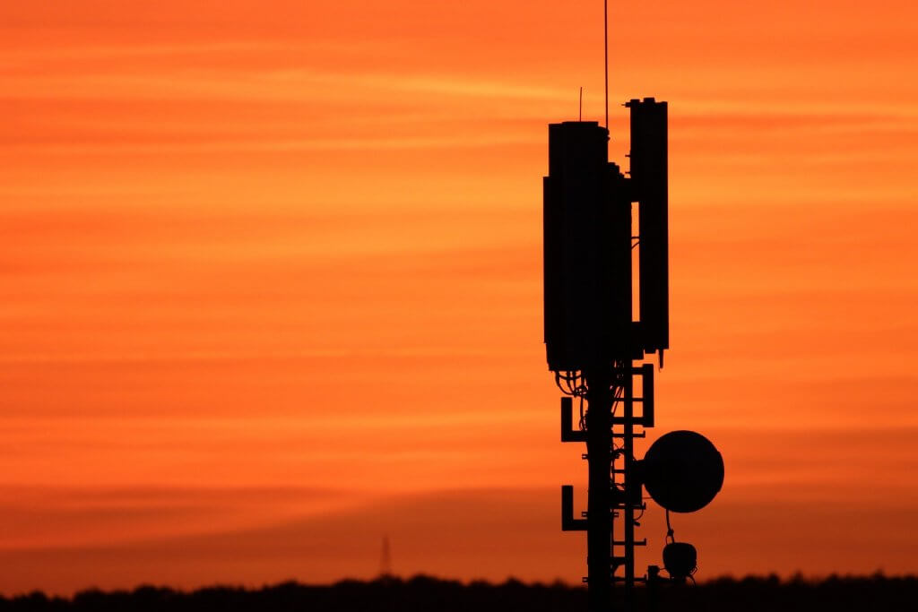 Mobile Antenna in the Sunset